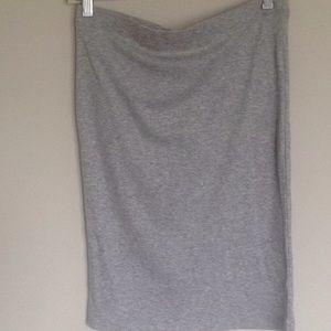 Dove grey pencil skirt